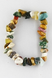 Bracelet agate multicolore chips