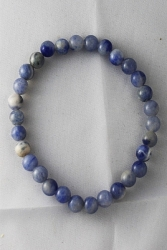 Bracelet quartz bleu 6mm