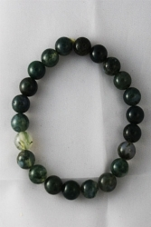 Bracelet agate mousse 8mm