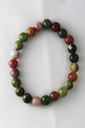 Bracelet agate multicolore 8mm