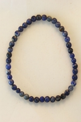 Bracelet quartz bleu 4mm