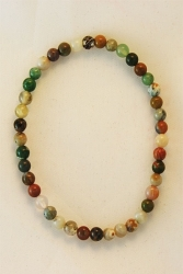 Bracelet agate multicolore 4mm